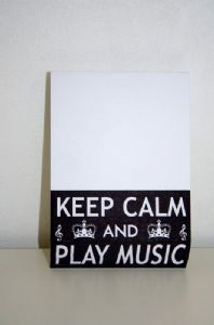 Musical Themed Block Note Pads 'Keep Calm and Play Music'
